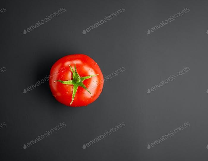 fresh red wet tomato