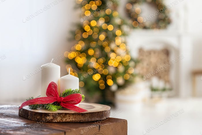 Christmas decoration, holiday background