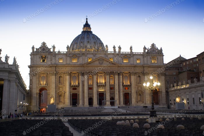 Vatican City in the evening