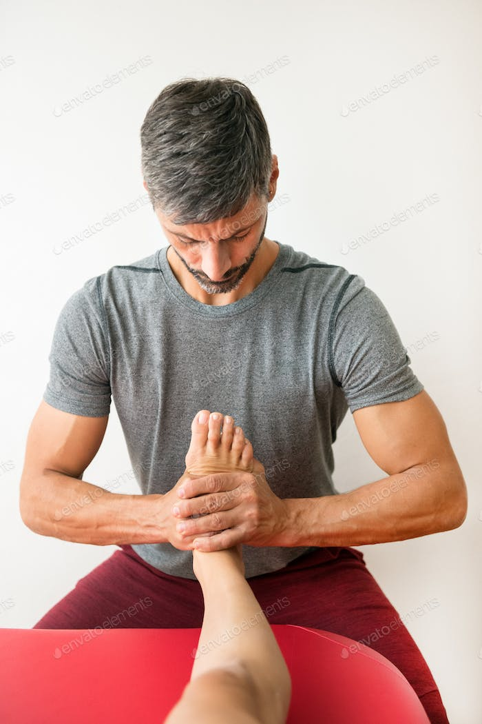 Professional ankle release myofascial treatment