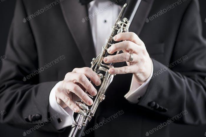 clarinet and tuxedo