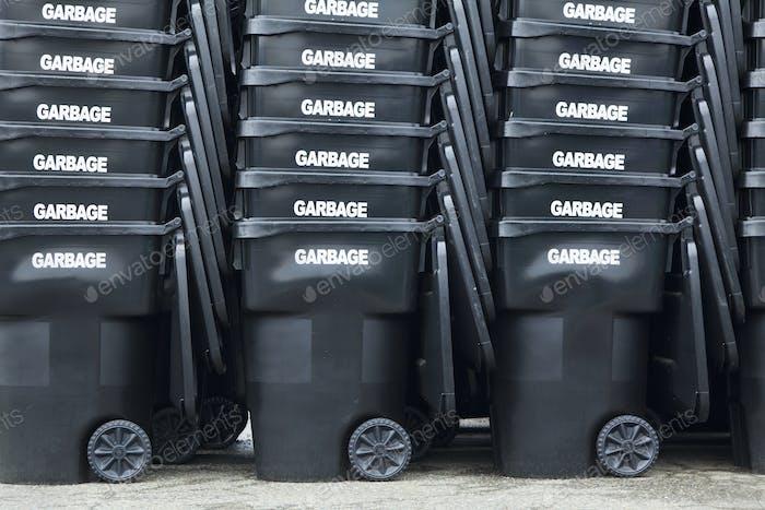48863,Black Garbage Bins