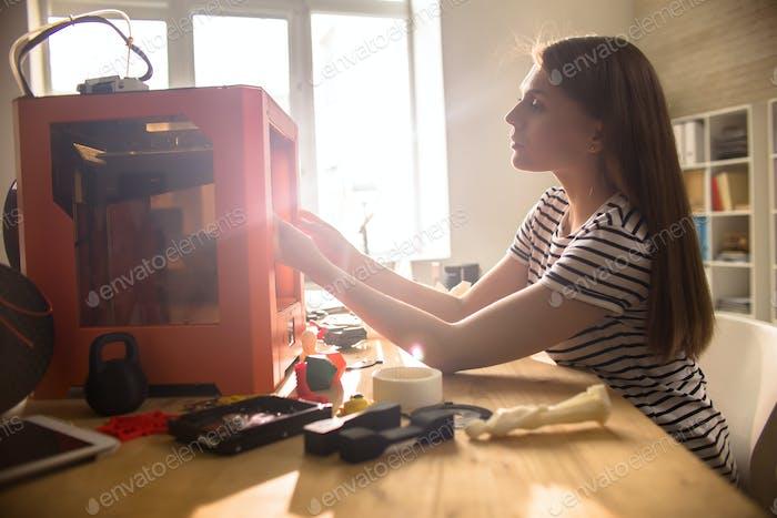 Uso de la impresora 3D