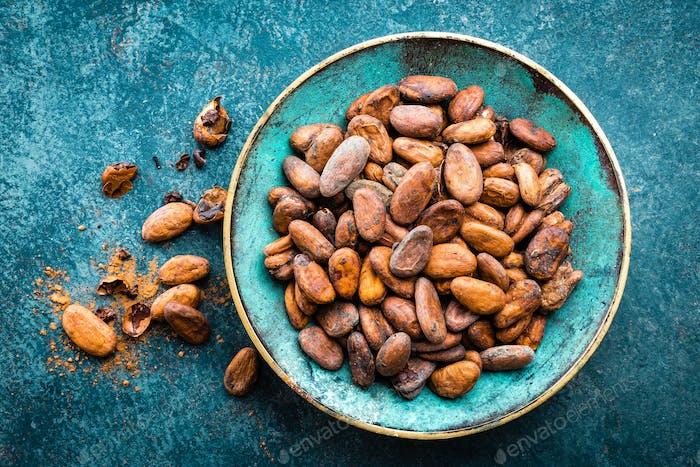 Fèves de  cacao. Cacao