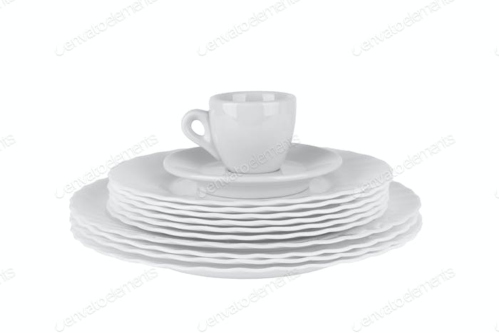 plates and cup