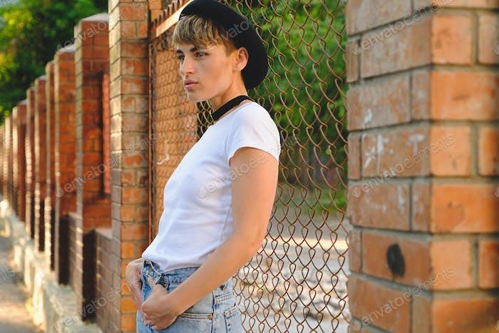 Pretty woman closeup portrait