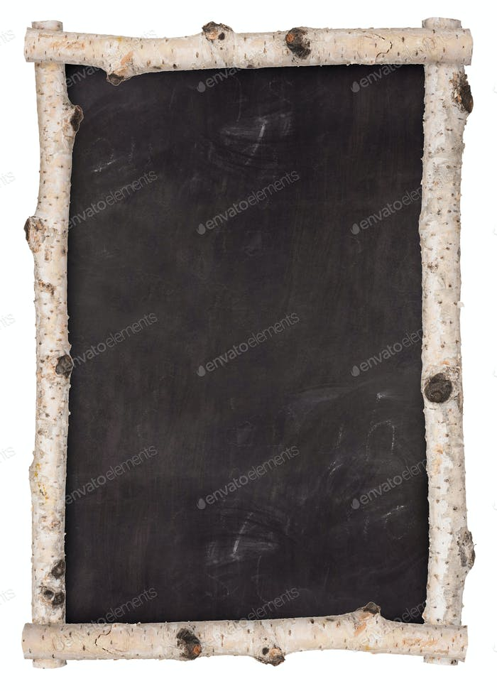 Schultafel Rahmen aus Birkenzweigen