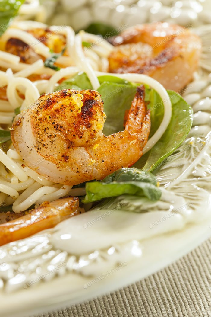Homemade Lemon and Shrimp Pasta
