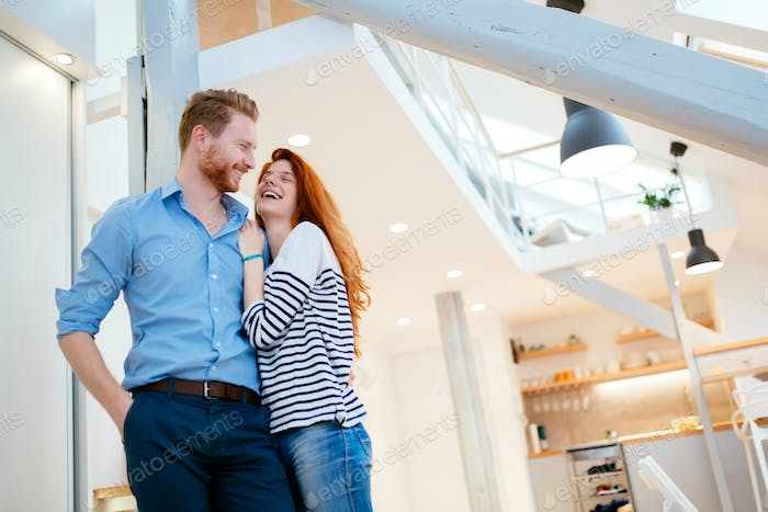 Lifestyle photo of couple in living room