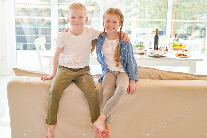 Cute Ginger Kids at Home