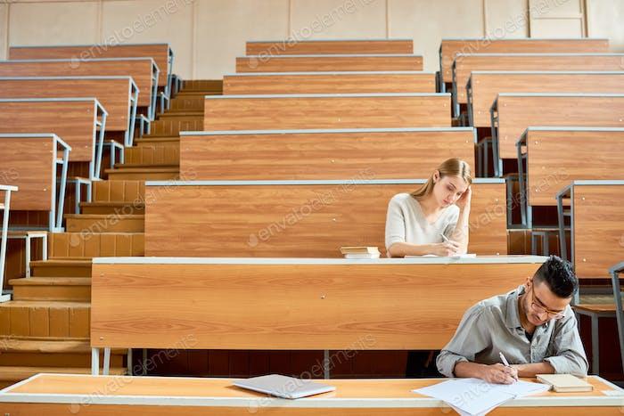 Students in Empty Auditorium