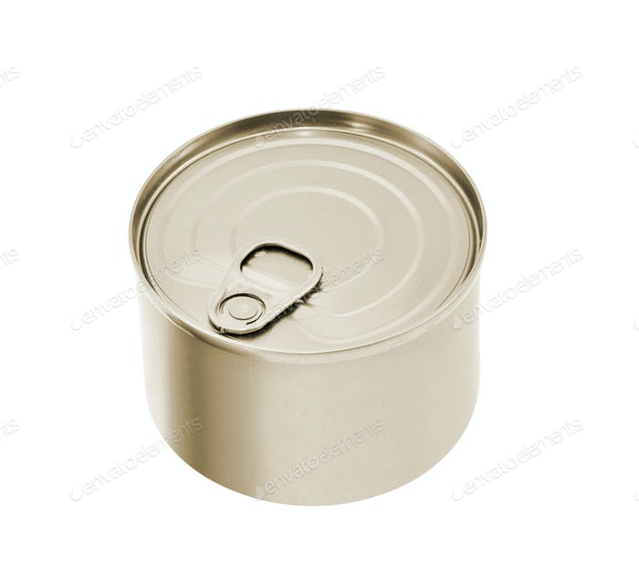 Tin can with no label