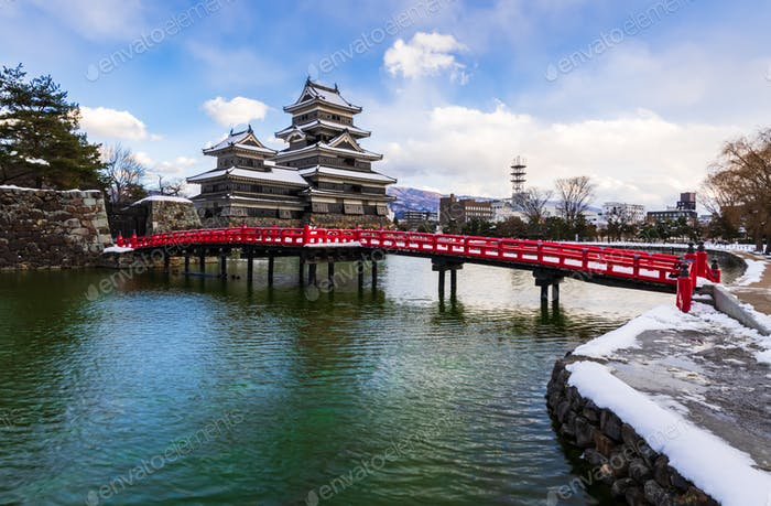 Matsumoto Schloss in wInter-Saison, Nagano, Japan