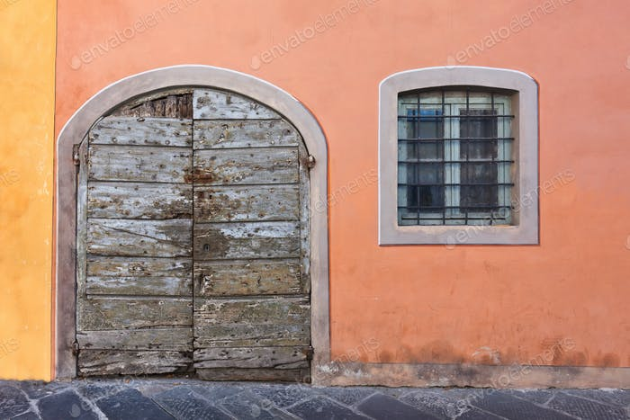 Old wooden door