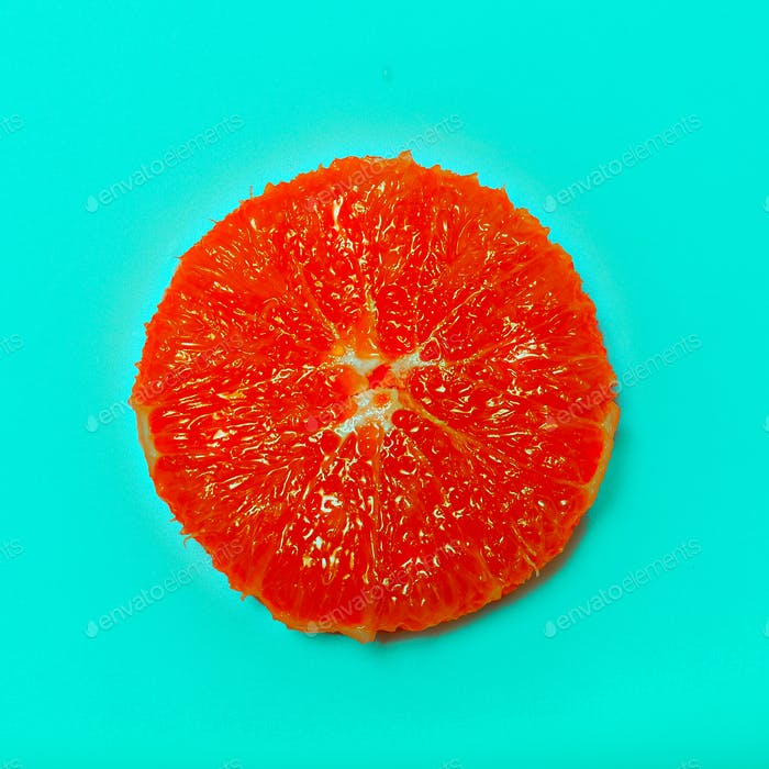 Grapefruit minimal art Flat lay