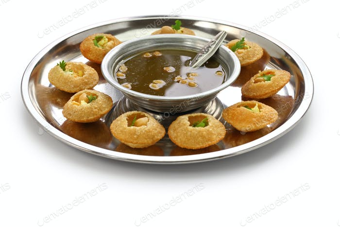 homemade pani puri, golgappa