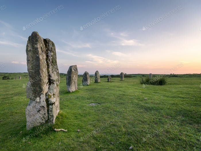 Hurlers Stone Circle in Cornwall