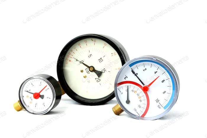 pressure meters isolated