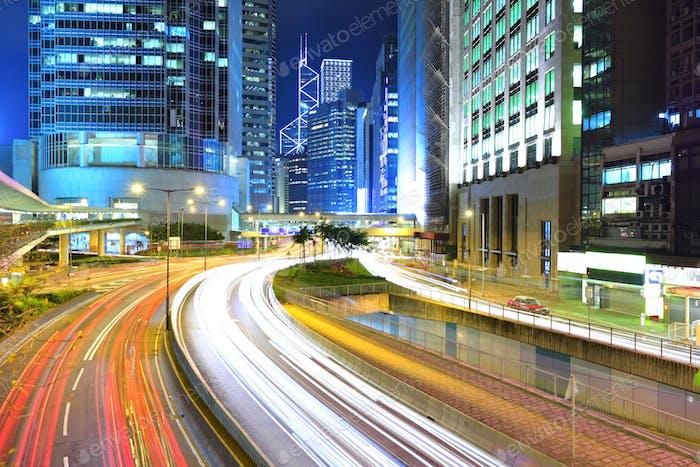 traffice through downtown