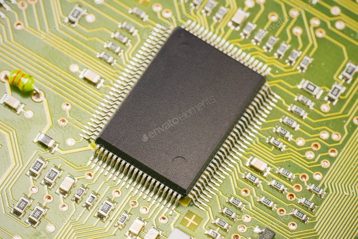 Thumbnail for electronic components on motherboard