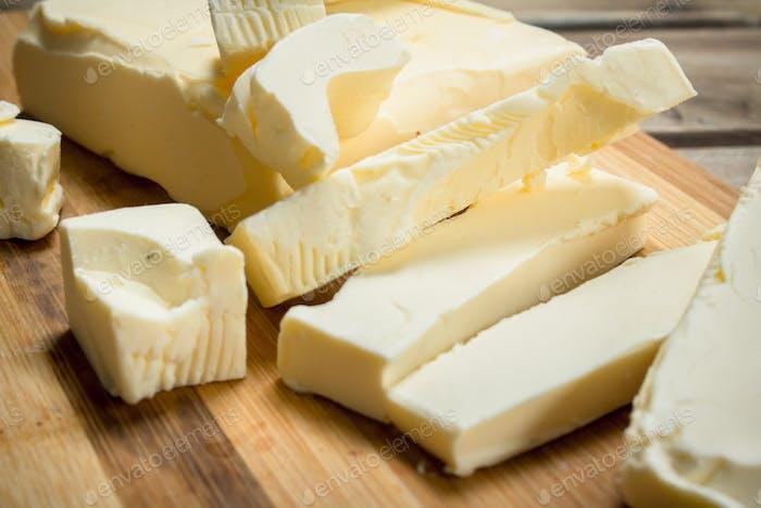 Chunks of butter.