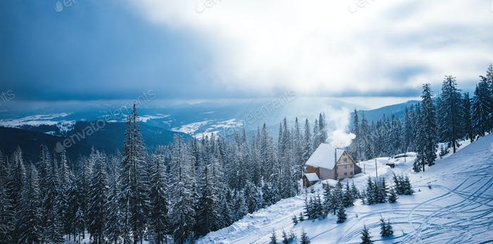 Wunderbare Wintererholungslandschaft Wald