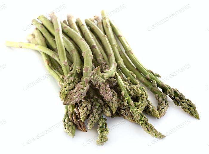 green asparagus in studio