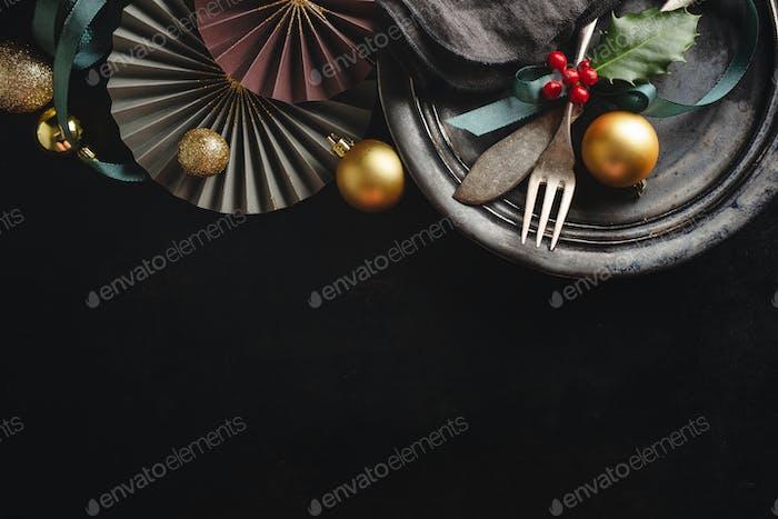 Weihnachten Vintage rustikales Besteck