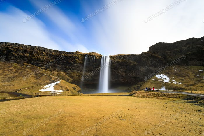 Seljalandsfoss waterfall, southern of Iceland