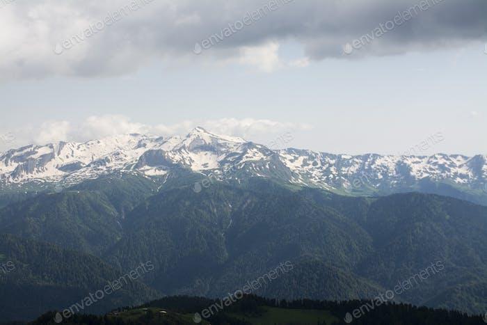 Schnee-Bergsicht