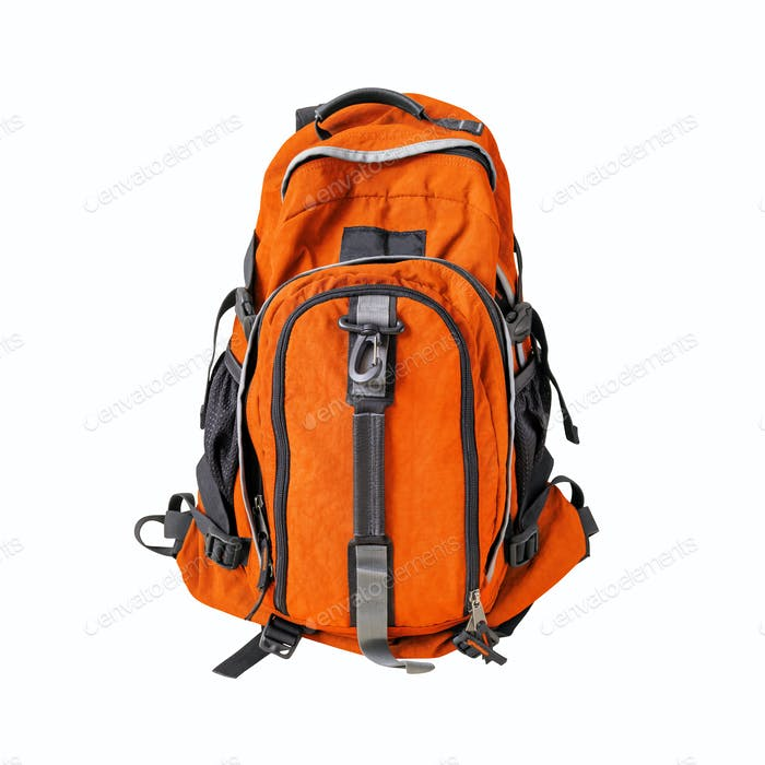 Thumbnail for Orange backpack isolated on white