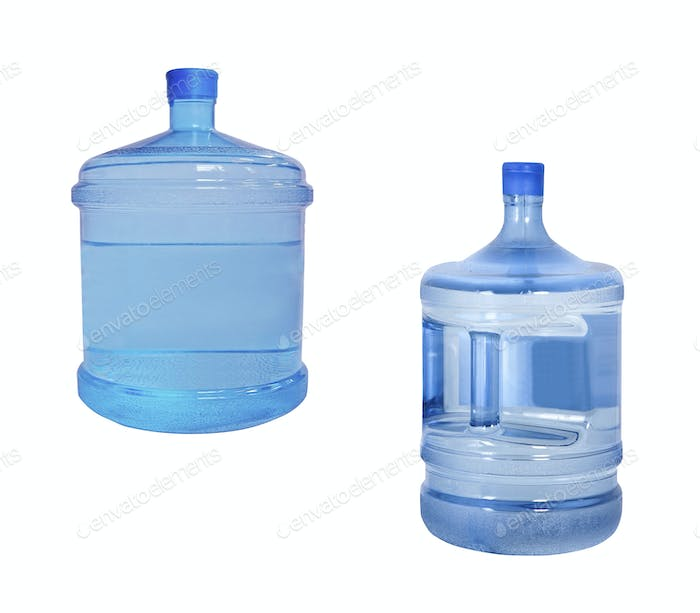 water big bottles isolated