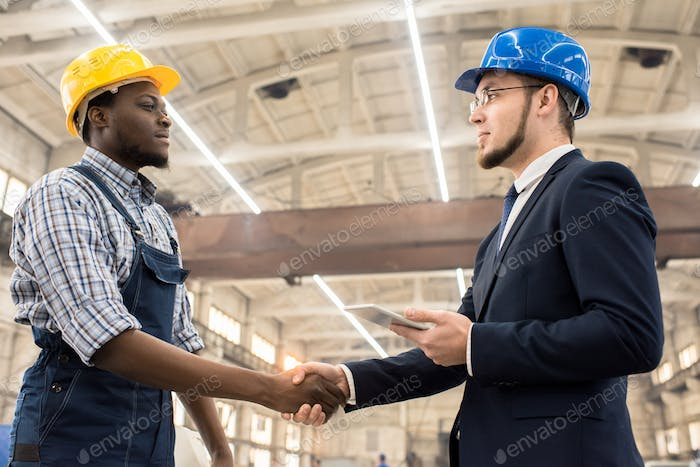 Greeting Investor with Handshake