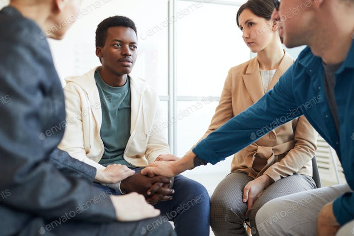 African-American Teenager in Support Group