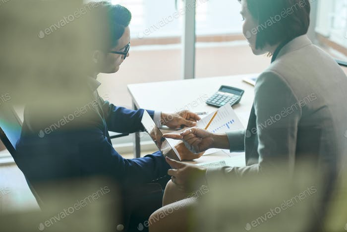 Business people working with documents