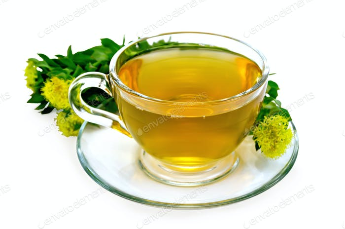 Herbal tea with a bouquet of Rhodiola rosea