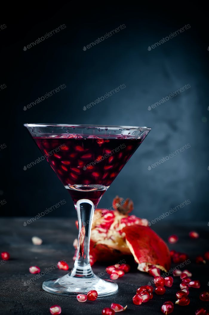 Delicious pomegranate cocktail