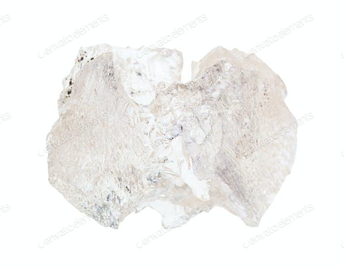 ungeschliffener Danburitgestein auf weiß isoliert