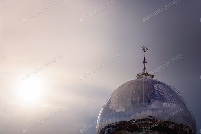 Dome of a mosque at down