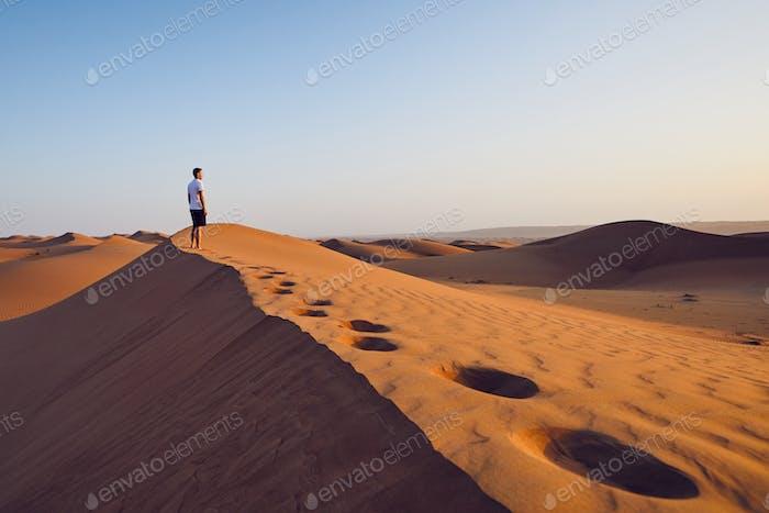 Allein in der Wüste