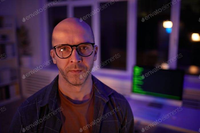 Mature Computer Programmer Portrait