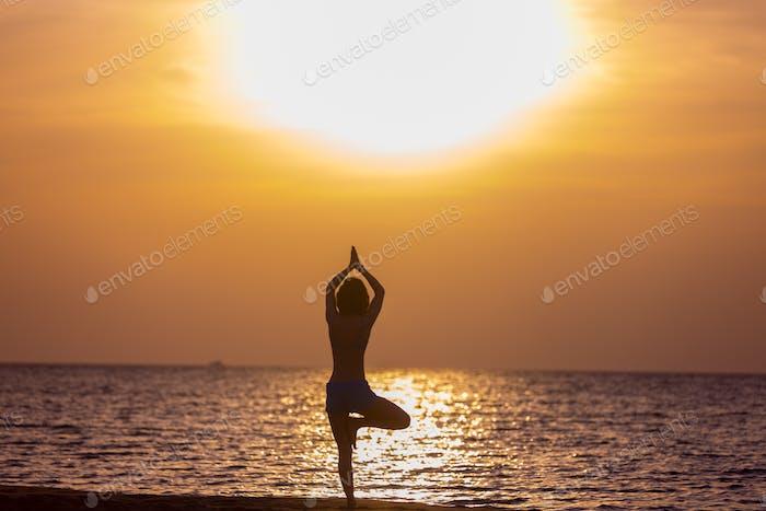 Yoga vriksasana Pose