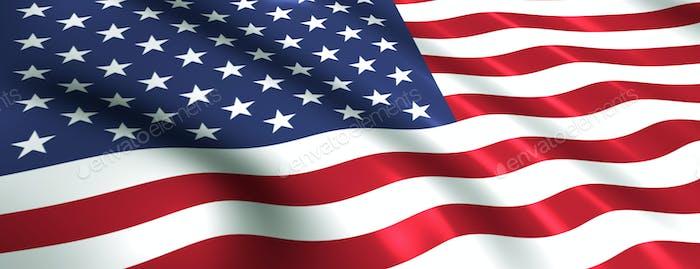 US-Flagge winkt für USA
