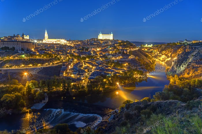 The historic old city of Toledo in Spain