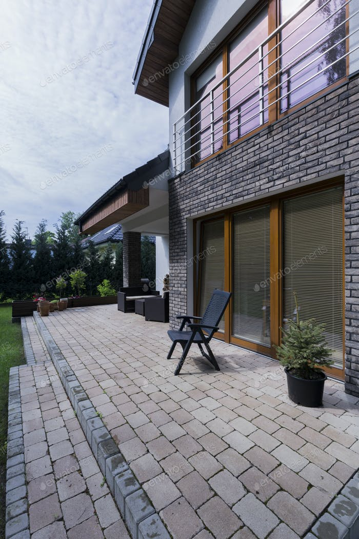 Stylish terrace at the house