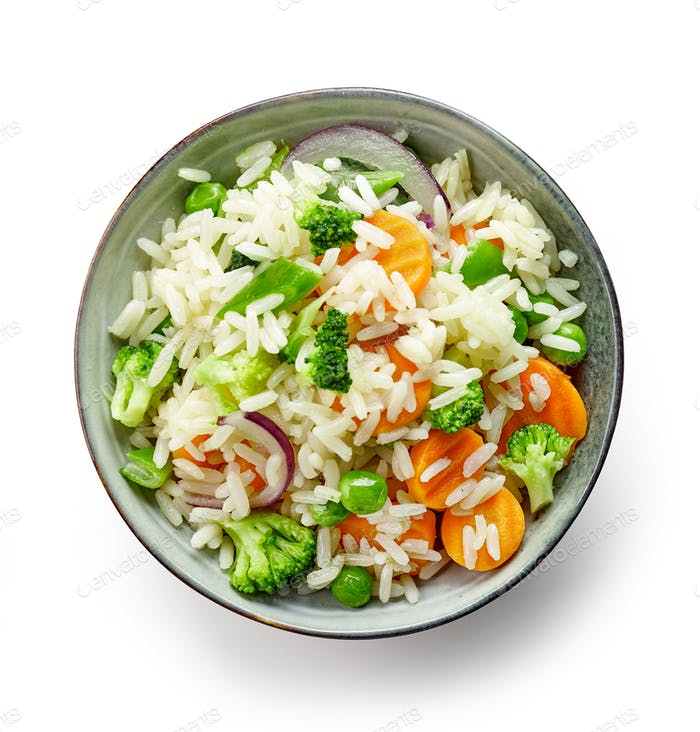 bowl of rice and vegetables