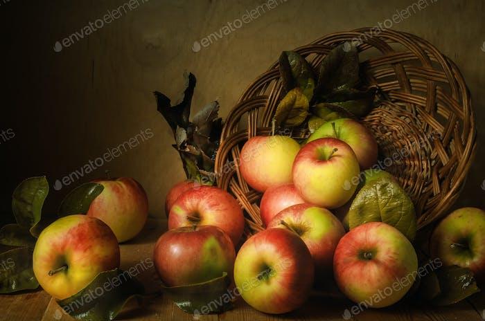 scattered apples