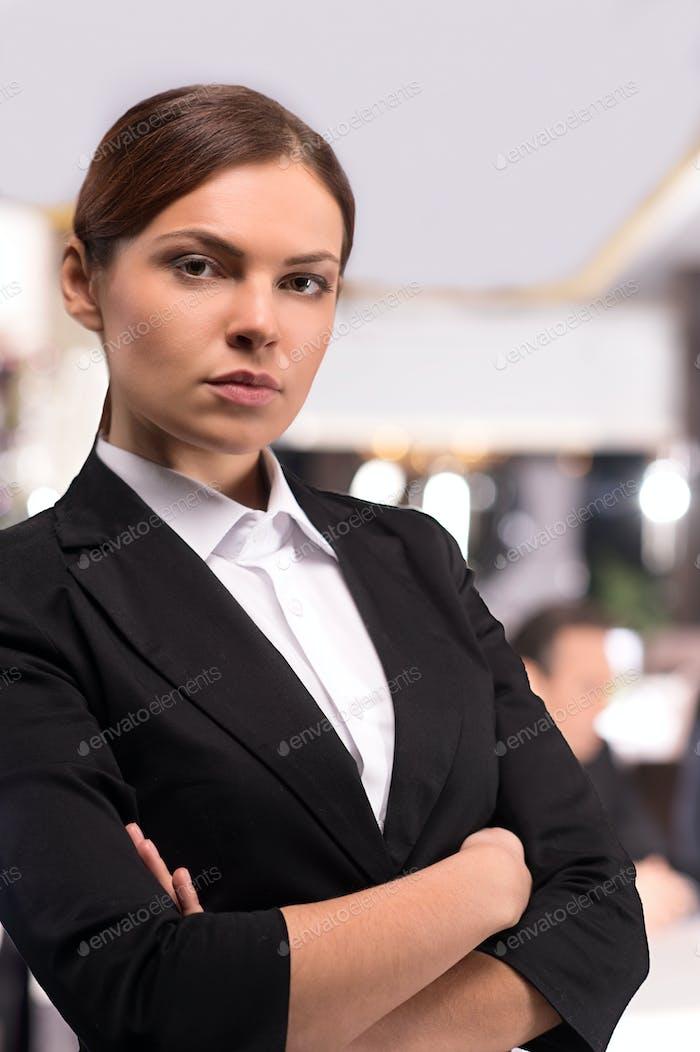 Confident business lady.