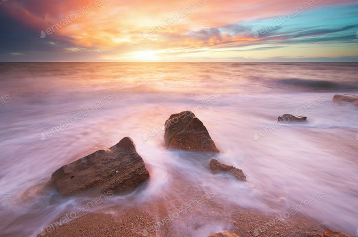 Hermoso paisaje marino.