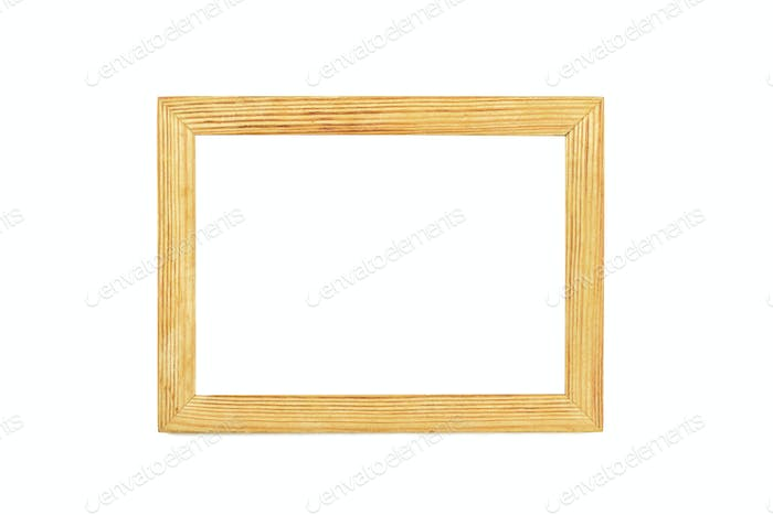 Simple wooden photo frame
